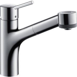Смеситель для кухни Hansgrohe Talis S с выдвижным изливом (32841000) смеситель для кухни kludi l ine с выдвижным изливом 428210577