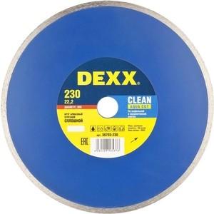 Диск алмазный DEXX сплошной для УШМ 230х22,2 мм (36703-230)