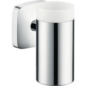 Стакан Hansgrohe PuraVida с держателем (41504000) держатель туалетной бумаги hansgrohe puravida для запасного рулона 41518000