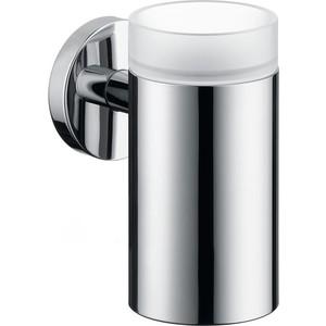 Стакан Hansgrohe Logis с держателем (40518000) держатель туалетной бумаги hansgrohe logis 40526000