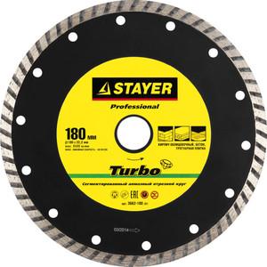 Диск алмазный Stayer Professional для УШМ 22,2х180 мм (3662-180z01)