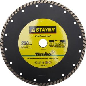Диск алмазный Stayer Professional УШМ 22,2х230 мм (3662-230z01)