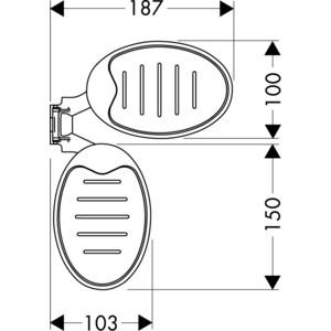 Мыльница Hansgrohe Raindance Cassetta для душевой штанги (28698000)