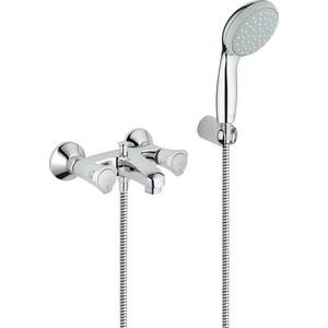 Смеситель для ванны Grohe Costa l с душевым гарнитуром Relexa (25460001) смеситель для ванны kludi balance с душевым гарнитуром напольный 525900575