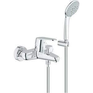 Смеситель для ванны Grohe Eurodisc cosmopolitan с душевым гарнитуром euphoria (33395002) grohe eurodisc cosmopolitan 19574002 на борт ванны