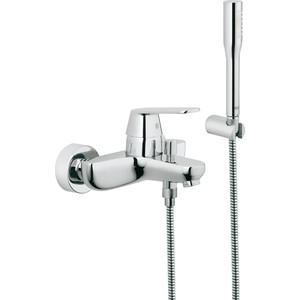 Смеситель для ванны Grohe Eurosmart cosmopolitan с душевым гарнитуром euphoria cosmopolitan (32832000) смеситель для ванны grohe eurosmart new с душевым набором настенный держатель ручной душ хром