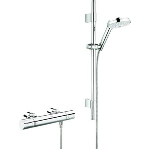 Термостат для душа Grohe Grohtherm 3000 cosmopolitan с душевым гарнитуром rainshower cosmopolitan (34275000) штанга для душа grohe 28576000 rainshower