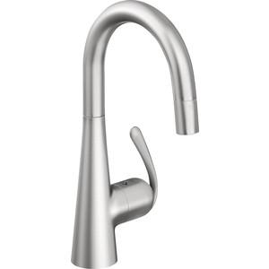 Смеситель для кухни Grohe Zedra с выдвижным изливом dual нержавеющая сталь (32296SD0) grohe zedra 32553sd0 для кухонной мойки