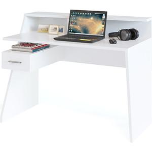 Компьютерный стол СОКОЛ КСТ-108 белый