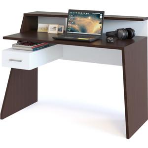 Компьютерный стол СОКОЛ КСТ-108 венге/белый