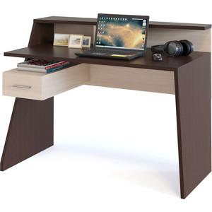 Компьютерный стол СОКОЛ КСТ-108 венге/беленый дуб