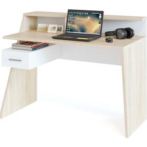 Компьютерный стол СОКОЛ КСТ-108 дуб сонома/белый