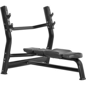 Скамья для жима горизонтальная Bronze Gym H-023А (черный)