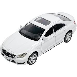 Машина металлическая PIT STOP Mercedes-Benz CLS 63 AMG белая 1:32, инерционная