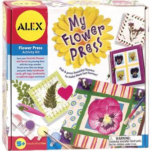 Набор для творчества Alex для создания гербариев и открыток, с дерев. прессом и аксес., от 5 лет