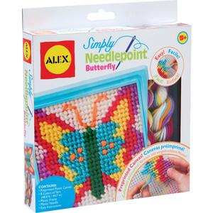 Набор для творчества Alex для вышивания ''Бабочка'' с пласт.тупой иглой, от 5 лет (10%)