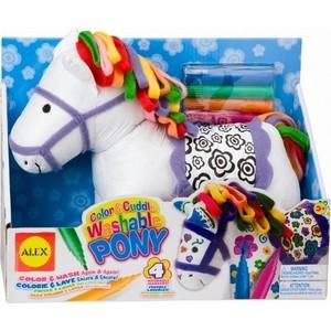 набор для творчества Alex ''Раскрась пони'' : мягк. игр., флом. д/ткани, от 3 лет