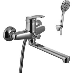 Смеситель для ванны Lemark Omega с изливом 200 мм с аксессуарами (LM3110C) держатель туалетной бумаги lemark omega с крышкой lm3134c