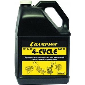 Масло 4-х тактное Champion 4л SAE 30 минеральное (952821) масло зимнее husqvarna sae 5w 30 1л 4 х тактное 5776164 22
