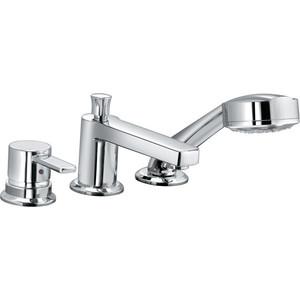 Смеситель для ванны Kludi на 3 отверстия излив 140 мм (384460575) смеситель для ванны kludi objekta длинный излив 324910575