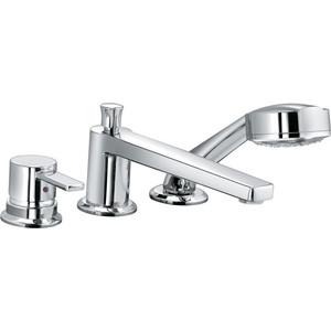 Смеситель для ванны Kludi на 3 отверстия излив 220 мм (384470575) смеситель для кухни kludi l ine с выдвижным изливом 428210577