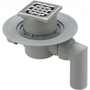 Душевой трап Viega 4935.3 c шарнирным отводом с решеткой 100х100 мм (557126)
