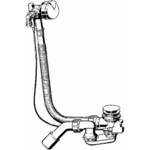 Слив-перелив Viega Simplex 6168.45 с наливом для стандартной ванны автомат хром (586492)