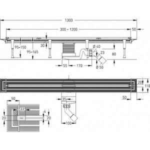 Душевой лоток Viega Advantix Vario 1200 мм (686277) от ТЕХПОРТ