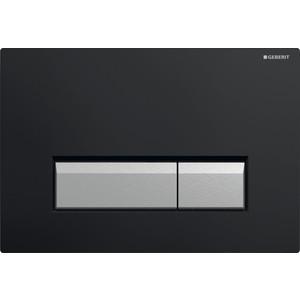 Клавиша смыва Geberit Sigma 40 черная/аллюминий (115.600.KR.1) клавиша смыва geberit sigma 50 дымчатое стекло 115 788 sd 5