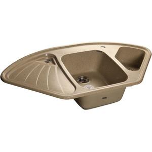 Мойка кухонная GranFest гранит угловая 1040x570 (Gf-C1040E песок) granfest 1024 302 песок