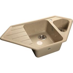 Мойка кухонная GranFest гранит угловая 950x500 (Gf-C950E песок) мойка кухонная granfest гранит 565x510 gf q560 песок