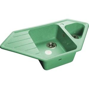 Мойка кухонная GranFest гранит угловая 950x500 (Gf-C950E салатовая) gf go7400 b