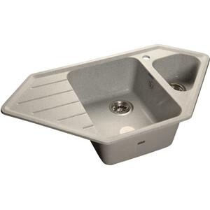 Мойка кухонная GranFest гранит угловая 950x500 (Gf-C950E серая) цена