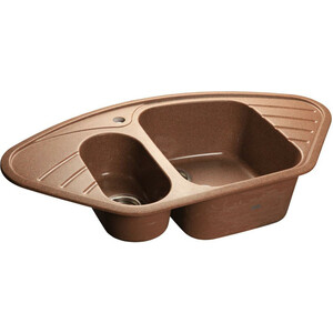 Мойка кухонная GranFest гранит угловая 960x510 (Gf-C960E терракот) мойка кухонная granfest гранит 850x495 gf s850l терракот