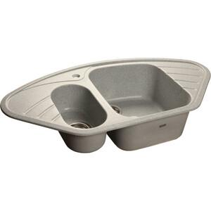Мойка кухонная GranFest гранит угловая 960x510 (Gf-C960E серая) цена
