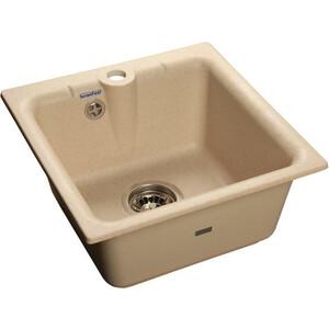 Мойка кухонная GranFest гранит 420x420 (Gf-P420 бежевая) кухонная мойка aquaton 1a715032lr90 лория темно бежевая