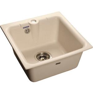 Мойка кухонная GranFest гранит 420x420 (Gf-P420 белая) цены онлайн