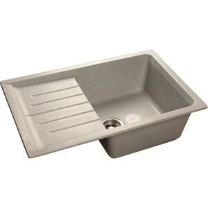 Мойка кухонная GranFest гранит 760x500 чаша крыло (Gf-P760L серая) мойка кухонная granfest гранит 650x500 чаша крыло gf r650l черная