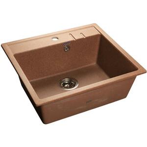 Мойка кухонная GranFest гранит 565x510 (Gf-Q560 терракот) мойка кухонная granfest гранит 565x510 gf q560 песок