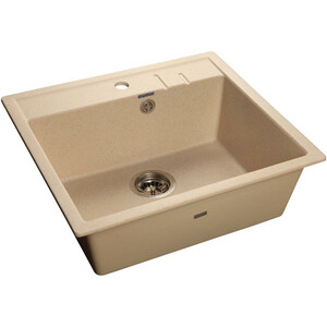 Мойка кухонная GranFest гранит 565x510 (Gf-Q560 бежевая) мойка кухонная granfest гранит 565x510 gf q560 песок
