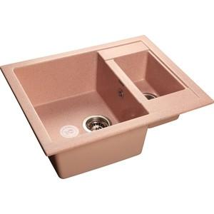 Мойка кухонная GranFest гранит 610x495 (Gf-Q610K розовая) granfest смесительgranfest gf 1024 328 для кухонной мойки