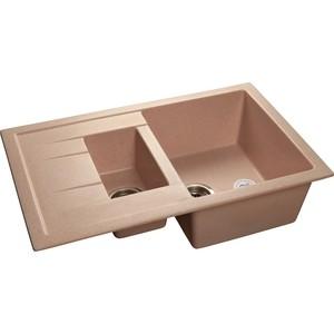 Купить мойка кухонная GranFest гранит 770x495 (Gf-Q775KL розовая) (99400) в Москве, в Спб и в России