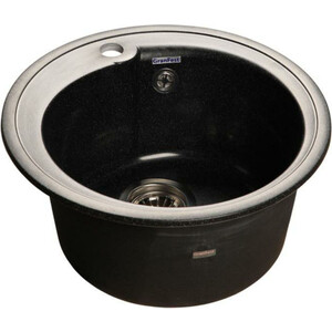 Мойка кухонная GranFest гранит D450 (Gf-R450 черная)
