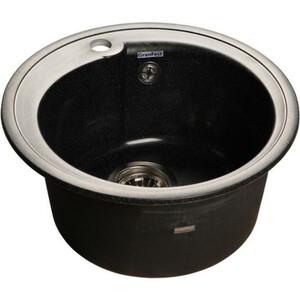 Мойка кухонная GranFest гранит D450 (Gf-R450 черная) мойка кухонная granfest гранит d450 gf r450 терракот