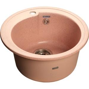 Мойка кухонная GranFest гранит D450 (Gf-R450 светло-розовая) мойка кухонная granfest гранит d450 gf r450 терракот