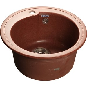 Мойка кухонная GranFest гранит D450 (Gf-R450 красный марс) gf go7400 b