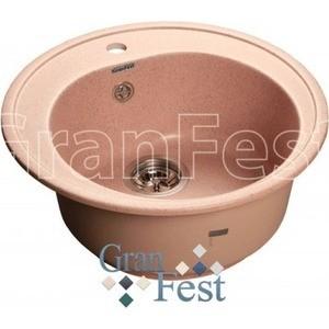 Купить мойка кухонная GranFest гранит D510 (Gf-R510 розовая) (99431) в Москве, в Спб и в России