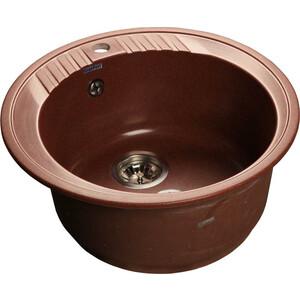 Мойка кухонная GranFest гранит D520 (Gf-R520 красный марс) цены онлайн