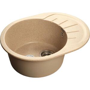 Мойка кухонная GranFest гранит 580x450 (Gf-R580L песок) granfest смесительgranfest gf 1024 328 для кухонной мойки