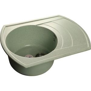 Купить мойка кухонная GranFest гранит 650x500 чаша крыло (Gf-R650L салатовая) (99458) в Москве, в Спб и в России